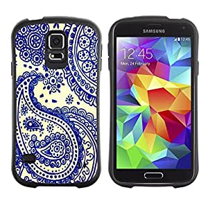 "Hypernova Slim Fit Dual Barniz Protector Caso Case Funda Para Samsung Galaxy S5 [Azul de China Tarjetas India Poker""]"