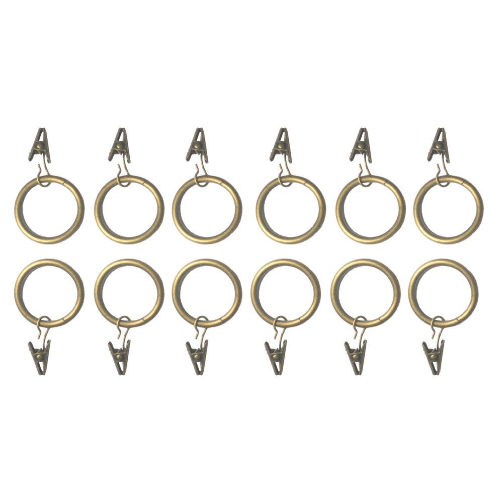 R.LANG Rings for Rods Metal Plating Bronze Color 1-Inch Diameter 12pcs