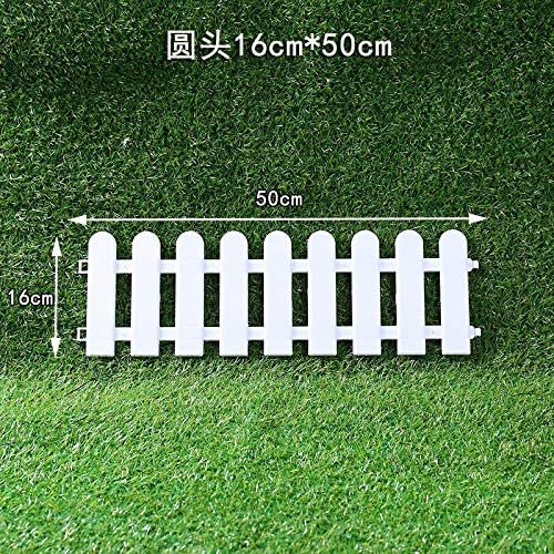 ABD Plastic Garden Fence Easy Assemble White Plastic Fences Countryyard Decor Christmas Tree Fence Landscaping Props Ornaments (Color : Style 11) Style 10