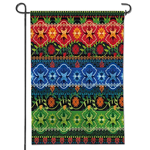 Leighhome Patriotic Garden Flag,Double-sided, Tribal seamles