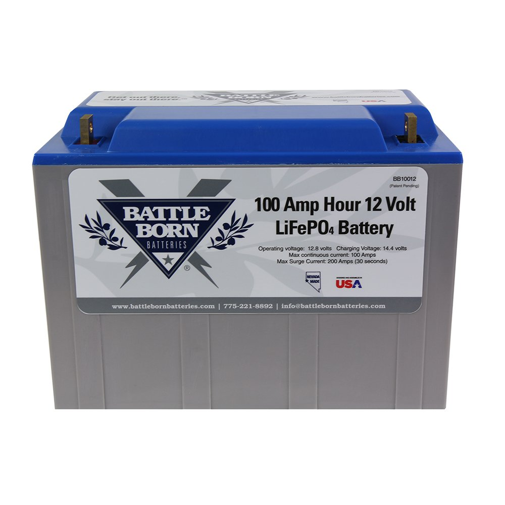 Battle Born LiFePO4 Deep Cycle Battery – 100Ah 12v