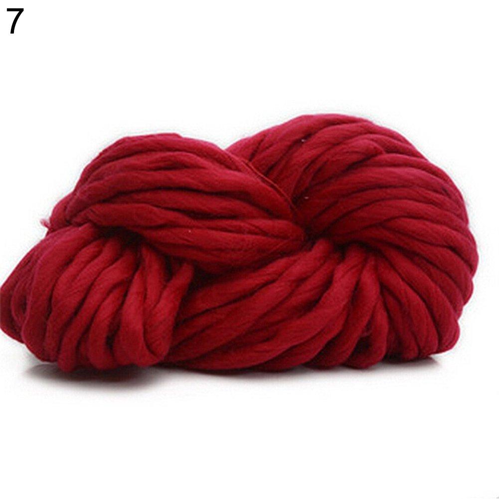 Zhouba - Lana gruesa, cálida, para tejer gorras (250 g), 7 ...
