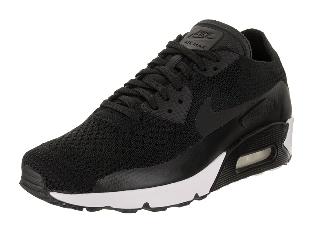 wholesale dealer faadf 9d1a4 Amazon.com   Nike Air Max 90 Ultra 2.0 Flyknit Men s Running Shoes  Black Black-Black-White 875943-004 (12 D(M) US)   Fashion Sneakers
