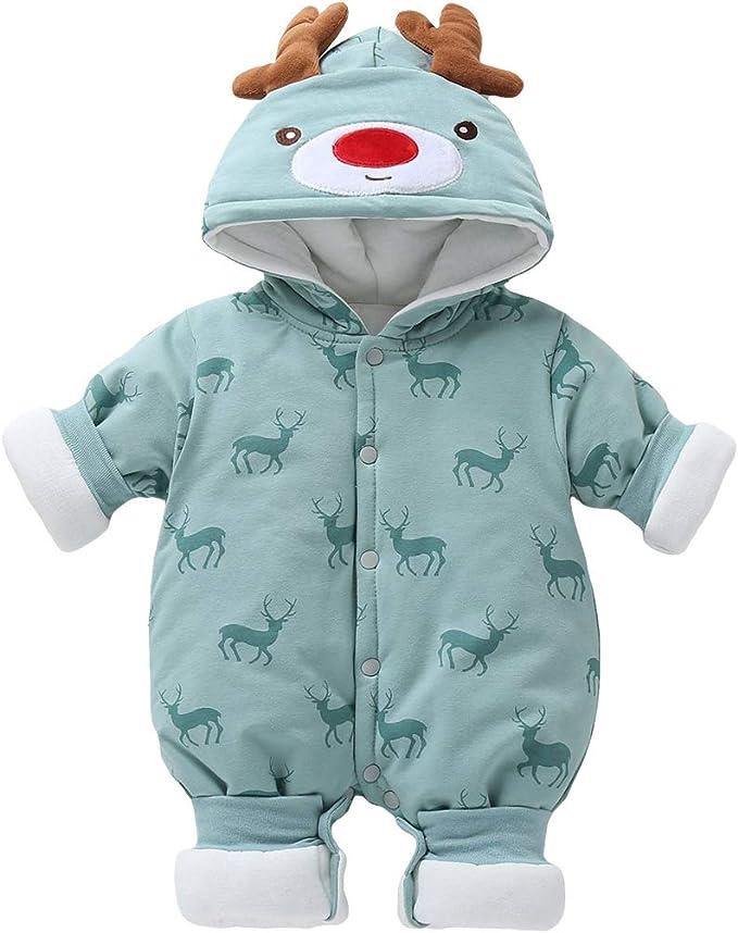 Baby Daunen Overall mit Kapuze Schneeanz/üge Strampler Langarm Spieler Winter Strampelanzug Outwear Skibekleidung 9-24 Monate