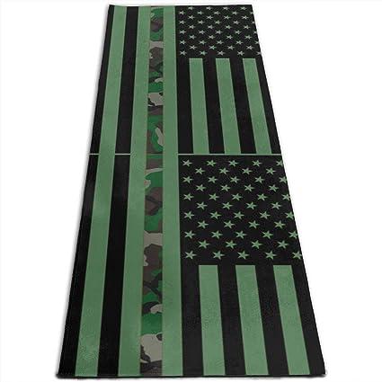 Amazon.com: Camo American Camouflage Flag Printed Yoga Mat ...
