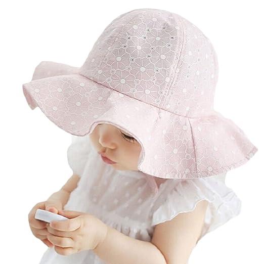 52daadf6677f Amazon.com  Toddler Infant Baby Girl Outdoor Bucket Hat Summer Sun ...