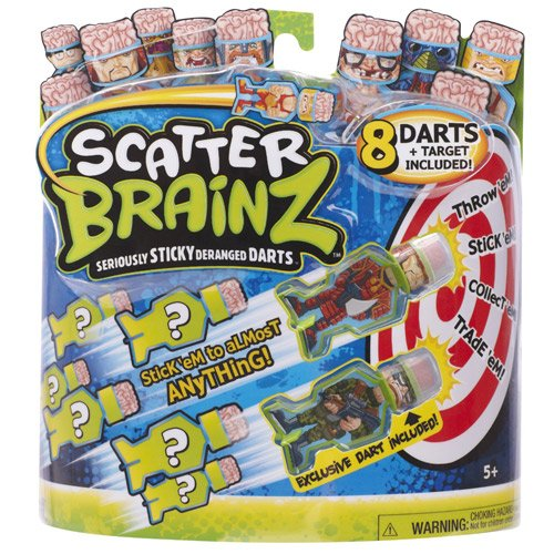Scatter Brainz Dart 8 Pack with Target - Series 1 by Scatter Brainz