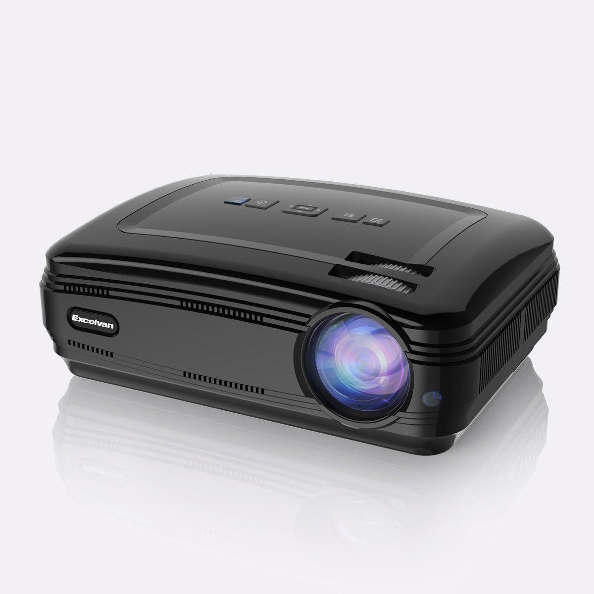 Excelvan BL59 - Proiettore LED 1080P (Sistema Android 6.0, 3200 Lumen, WIFI, 1280 x 768, Proiezione 32 - 200, 4: 3 16: 9, 3000: 1, Supporta Airplay, Miracast, Computer, Duplicato schermo, Altoparlante) (bianco)