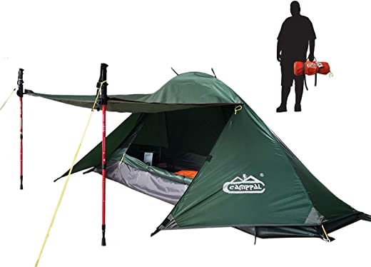 camppal 1 Person Tent for Camping Hiking Mountain Hunting Backpacking Tents 4 Season Resistance to Windproof Rainproof and Waterproof