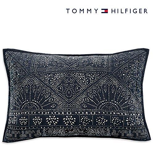 (Tommy Hilfiger Cromwell Standard Pillow Sham - Navy & White)