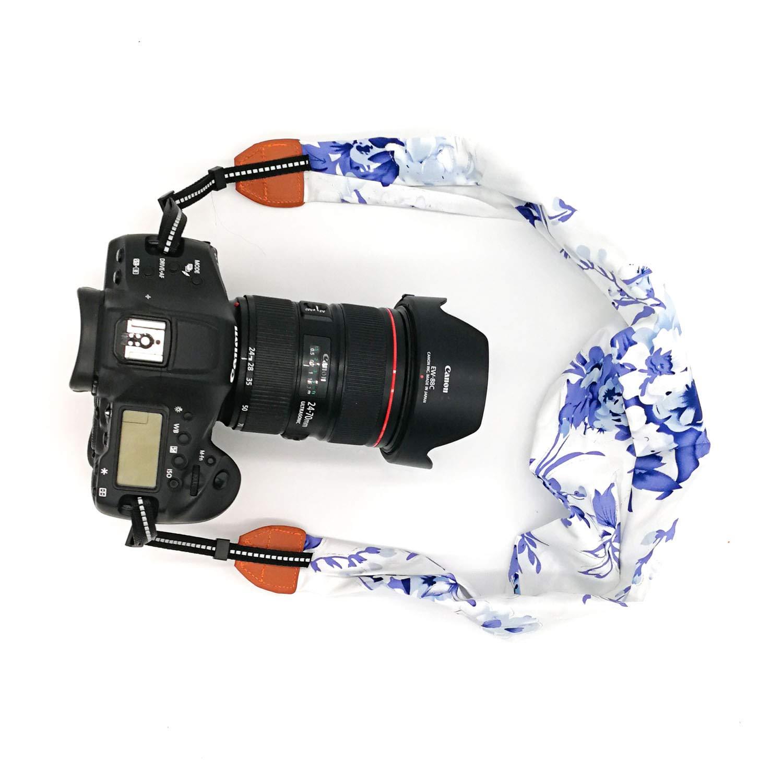WMWL - Correa de Hombro para cámara réflex Digital (Tela Floral ...