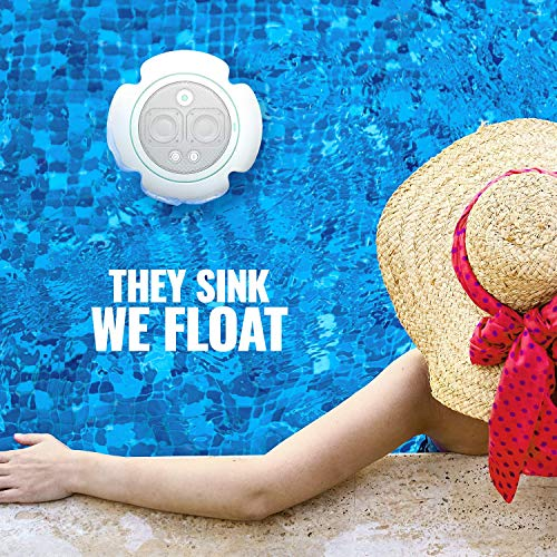 POW UNA Collapsible Floatable Bluetooth Speaker – 14-Hour Playtime, 10W Stereo Sound, 100ft Range | Wireless Stereo…