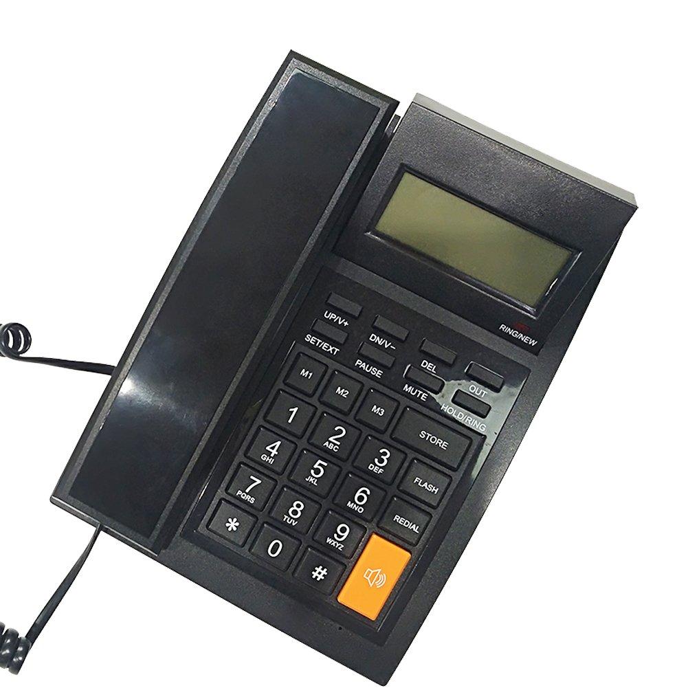 KerLiTar M64 Home Office Corded Phone with Caller ID Speakerphone Speed Dial Landline Telephone with Alarm