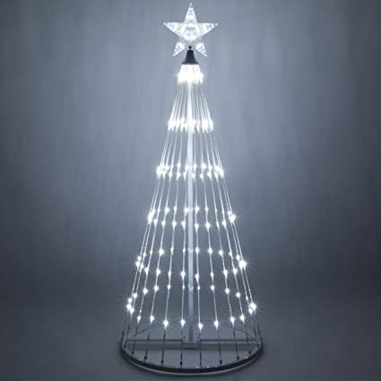 wintergreen lighting 14 function led light show cone christmas tree outdoor christmas decorations