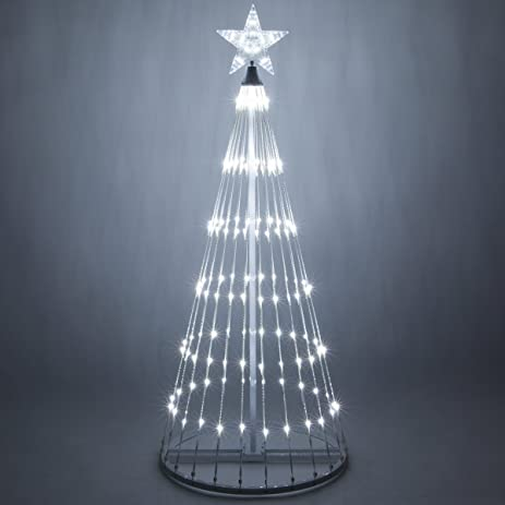 14 function led light show cone christmas tree outdoor christmas decorations 6 - White Outdoor Christmas Tree