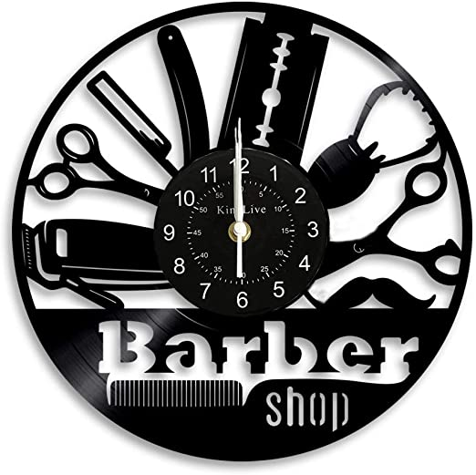 BARBER CHAIR Wall Clock hair salon stylist shop gift
