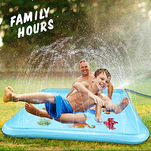 "Epoch Air Sprinkler Pad & Splash Play Mat, 67"" Outdoor Water Toddler Toys Summer Fun Game, Perfect Inflatable Outdoor Toys Sprinkler for Kids Boys Girls"