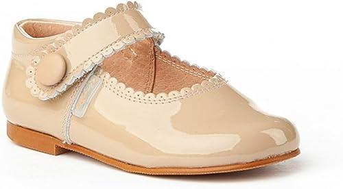 Zapatos Merceditas de niña con Cierre de Velcro. Esteos Zapatos están Fabricado en Piel y Hechos en España - Mi Pequeña Modelo 1502I Color Camel.: Amazon.es: Zapatos y complementos