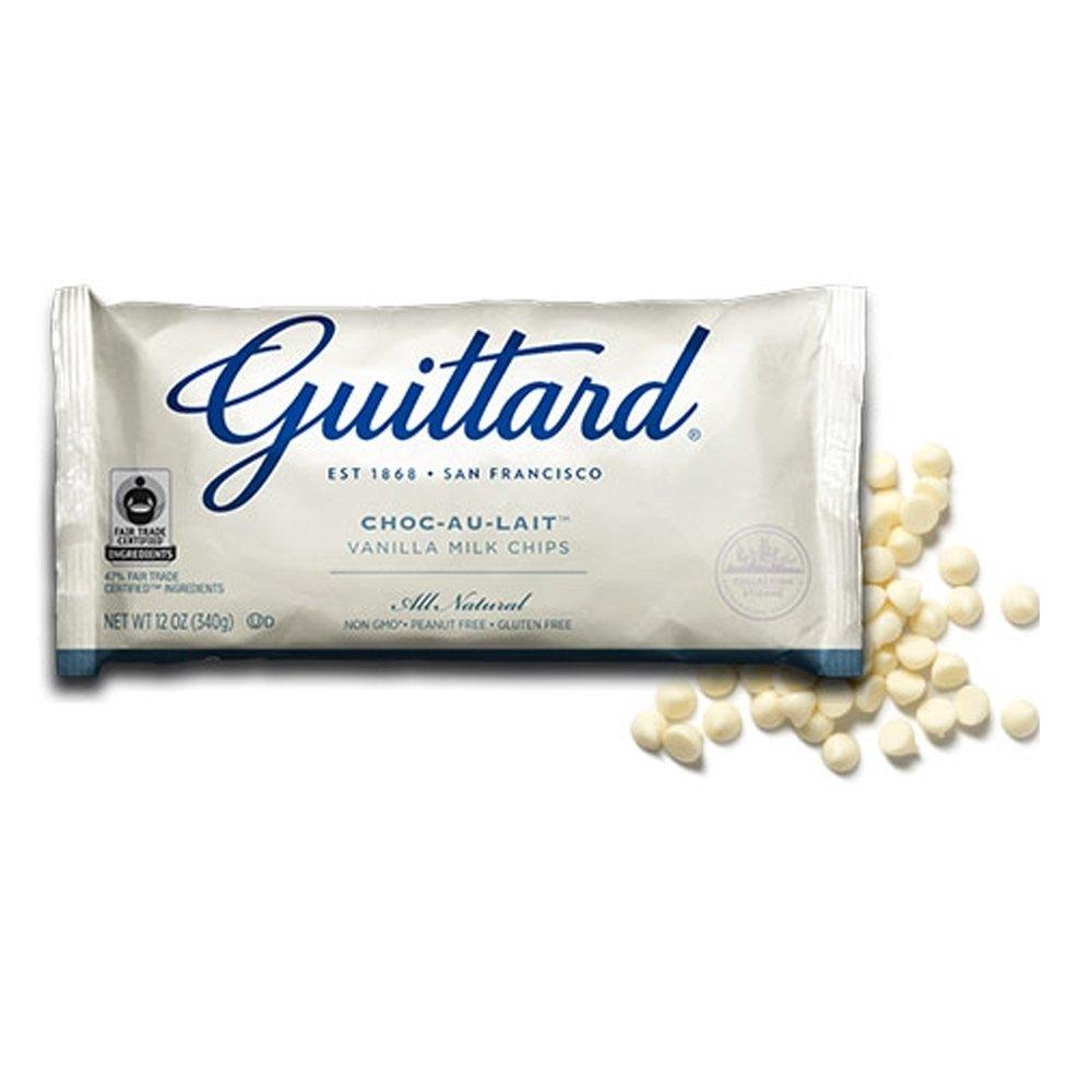 Guittard White Milk Baking Chocolate Maxi Chips - Guittard White Chocolate Cookie Drops, Kosher Certified, 25Lbs by Guittard