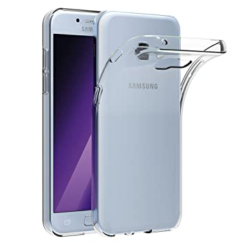 ebf58413546 AICEK Compatible for Samsung Galaxy A5 2017 Coque Transparente Silicone  Coque pour Galaxy A5 2017 Housse