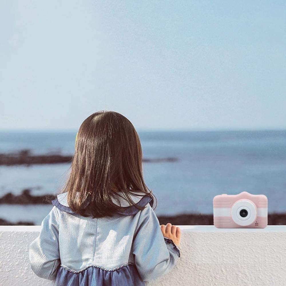 AnQna Kamera Kinderdigitalkamera Mini Kamera Kind kann Bilder Spielzeug-Geschenk-Blau Nehmen (Color : Pink) Pink