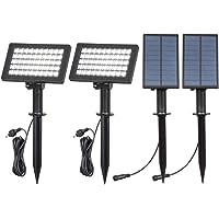 (2 Unidades) T-SUN 50 LED Luces Solares, Luz de Paisaje al Aire Libre, Impermeable Luz de Jardín Solar, 2 Modos de…