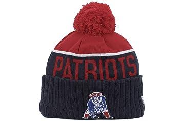 5e1af6bde A NEW ERA Era England Patriots NFL 2015 Oficial Sideline Gorro con Pompón  (Classic Logo)  Amazon.es  Deportes y aire libre