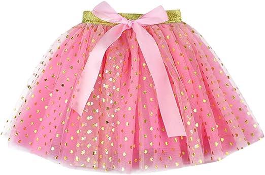 Mealeaf - Falda de Tul para niña (4 a 8 años): Amazon.es: Hogar