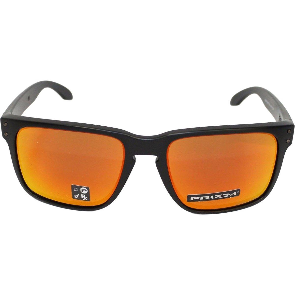 Oakley Holbrook XL Sunglasses, Matte Black/Prizm Ruby, One Size
