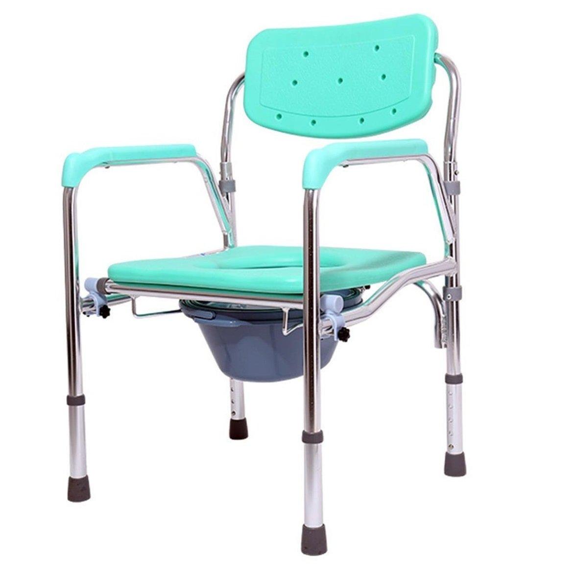 トイレの椅子とトイレのサラウンド老人のトイレを移動する妊娠中のバスの椅子シャワーの椅子ヘルスケア調節可能な高さ B07CNWT6P7