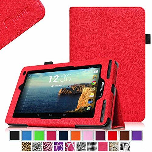 UPC 665960953188, Verizon Ellipsis 7 Case - Fintie Slim Fit Premium Vegan Leather Cover for Verizon Ellipsis 7 4G LTE Tablet, Red