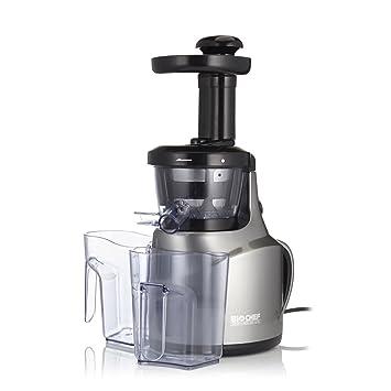 Extractor de zumos BioChef Slow Juicer - Exprimidor lento con tecnología Cold Press ¡El más pequeño y económico! 3 años de garantía y 30 días ...