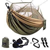 Deals on Sunyear Single & Double Camping Hammock with Mosquito/Bug Net