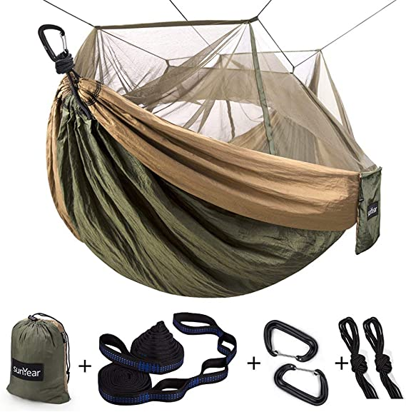 Single & Double Camping Hammock with Mosquito