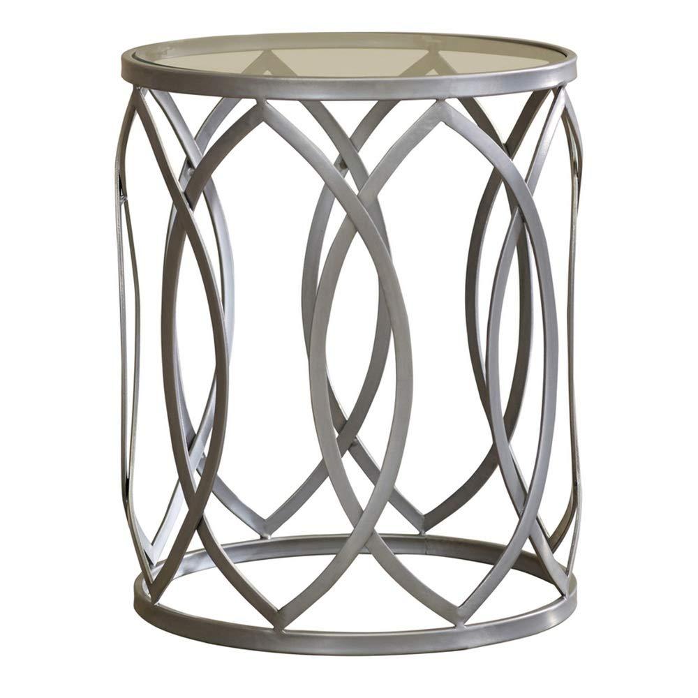 HAUYU テーブル サイドテーブルクラシックサイドネストテーブルアウトドアエンドテーブルパティオガラス強化ガラス 耐久性のある B07J4WSFBW