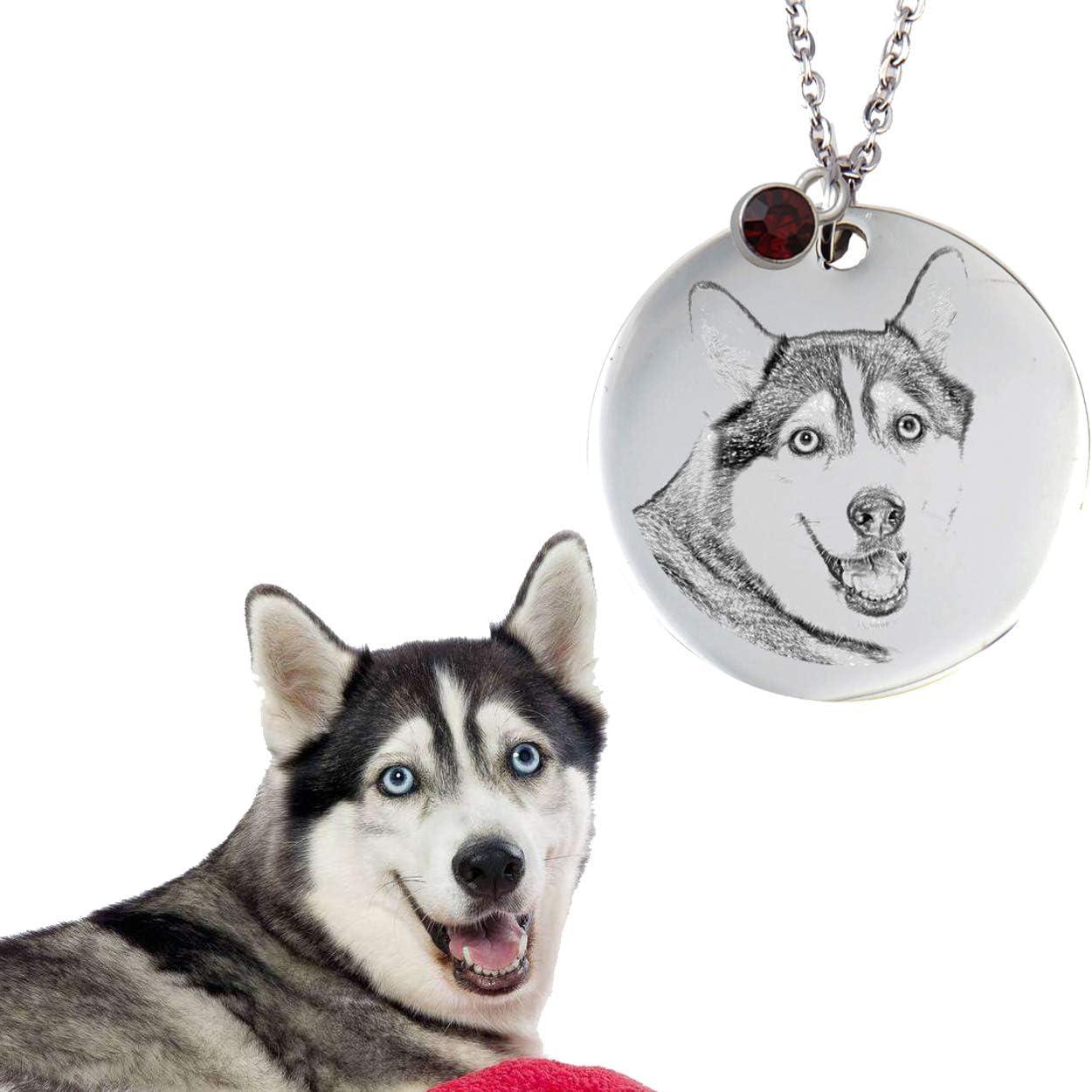 Alaskan Malamute Dog on Pendant with 24 Matching Ball Chain