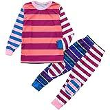 Christmas Pajamas for Family Onesies/Tops+Pants Pajamas Matching Sets Striped Sleepwear Present for Adult Kids