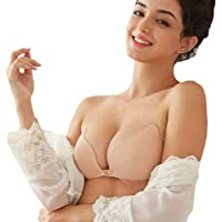 DA2S Adhesive Bra Push Up Invisible Silicone Backness Woman