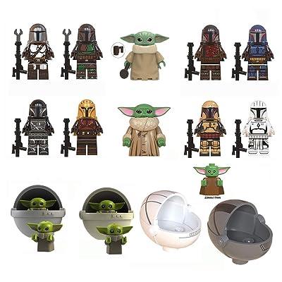 Haho Baby Yoda Mandalorian Building Blocks,Building Model The Mandalorian Building Block Kit Collectible Mini Figure,Best Gift for The Mandalorian Fans: Home & Kitchen