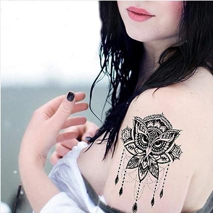 Tatuajes temporales para hombre y mujer, diseño de búho, 21 x 15 ...