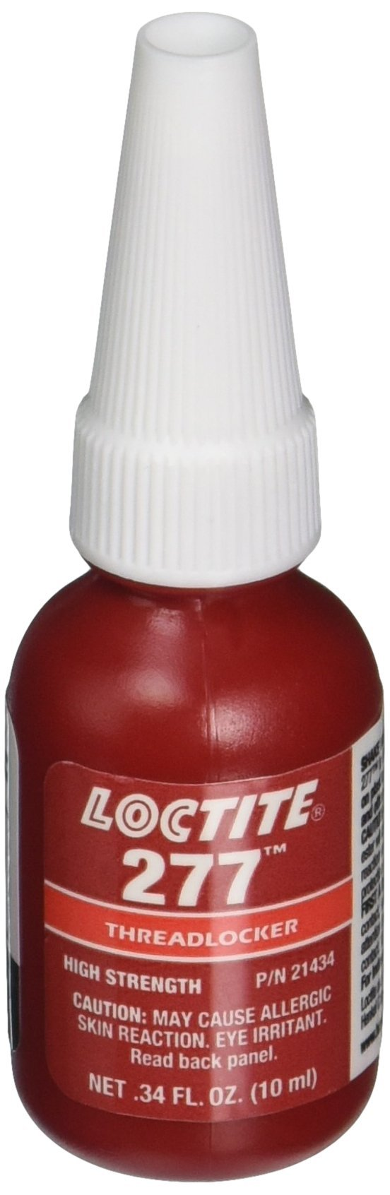 Loctite 277 442-21434 10ml High Strength Threadlocker, Red Color