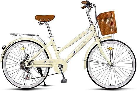 8haowenju Bicicleta, Bicicleta de 24 velocidades para Mujeres de ...