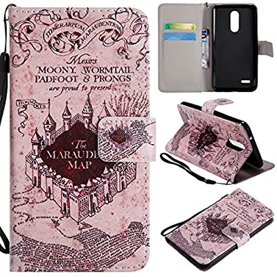 Ostop Colorful Painted Leather Wallet Case for LG K8/K10/K30 2018/LG Aristo 2 by Ostop