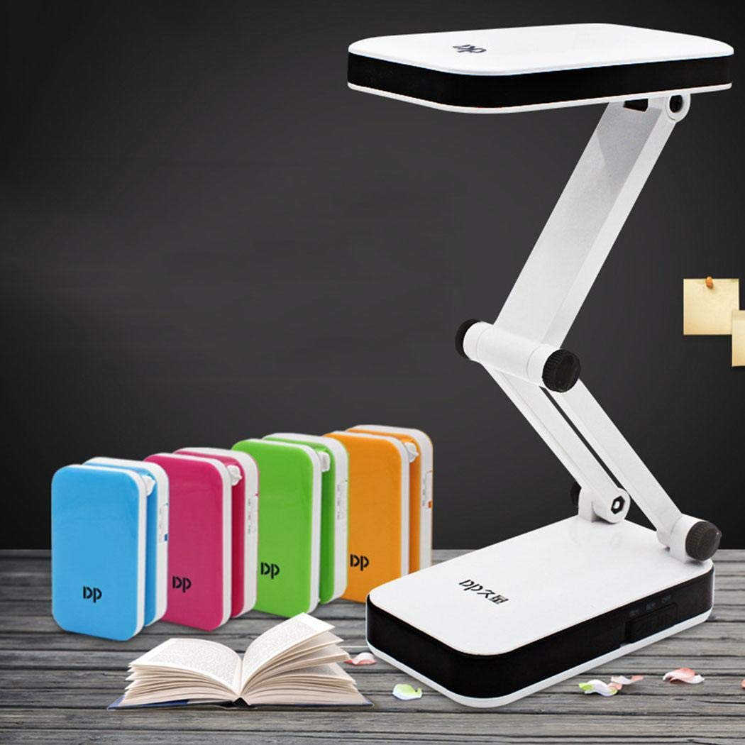 fnemo 1pcs LED Rechargeable Folding Eye Protection Learning Reading Desk Lamp Night Lights