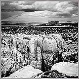 Single Mesa-HARLAN53503 Print 12''x12'' by Harold Silverman - Landscapes in a White Metal Frame