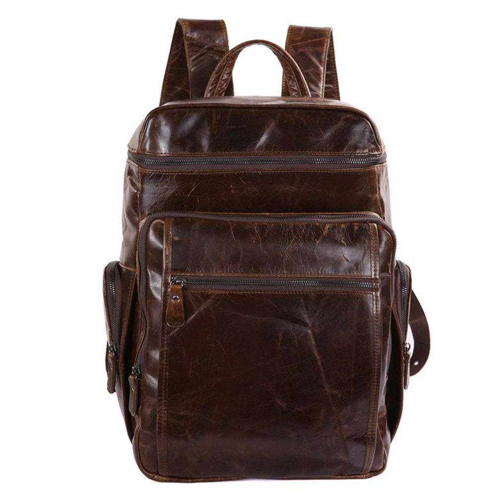 MuLier Sling Backpack Men Genuine Leather Crossbody Shoulder Bag For Men