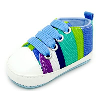 Baby Shoes Walkers Girls Boys High Quality  Soft Canvas Shoes Fashion Rainbow