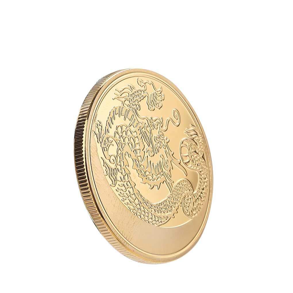 Timlatte Motif Dragon Chinois Pi/èce comm/émorative d/éfi Memorial Collection Souvenirs Cadeaux Objets de Collection D/écoration Coin