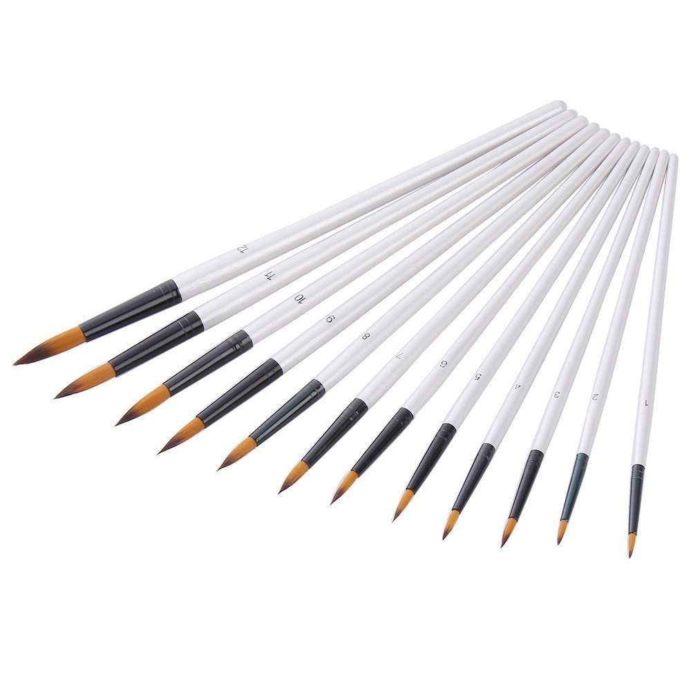 12 Pezzi Set di Pennelli Pittura per Artista Acrilico Acquerello Pittura a Olio (Blu) Mudder