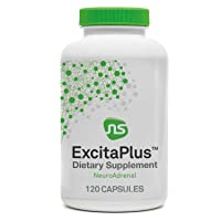 NeuroScience ExcitaPlus - Adrenal Support Complex for Energy and Focus, with Extra Strength Rhodiola and L-Tyrosine (120 Capsules)